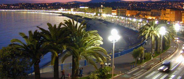 Promenade des anglais de nuit, Nice
